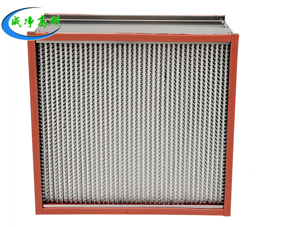High temperature and high efficiency filter resistance 250 °C -400 °C