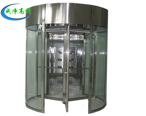 Rotary door wind shower room