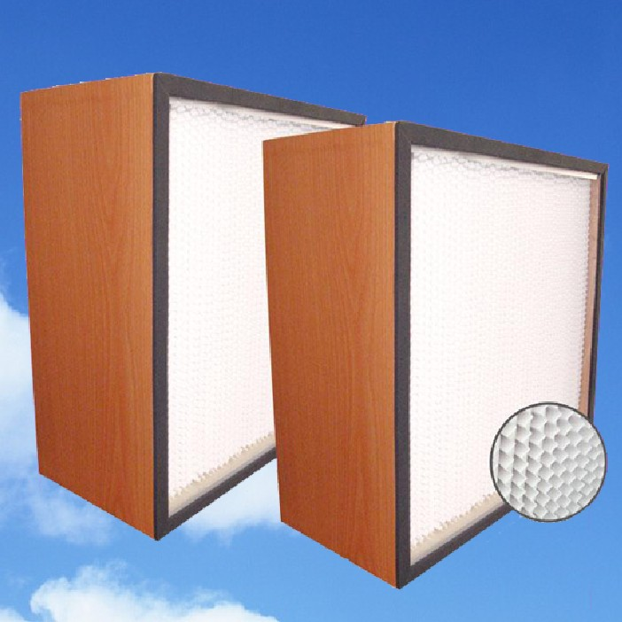 Wood-frame Air Filter with Partition(Paper plate)